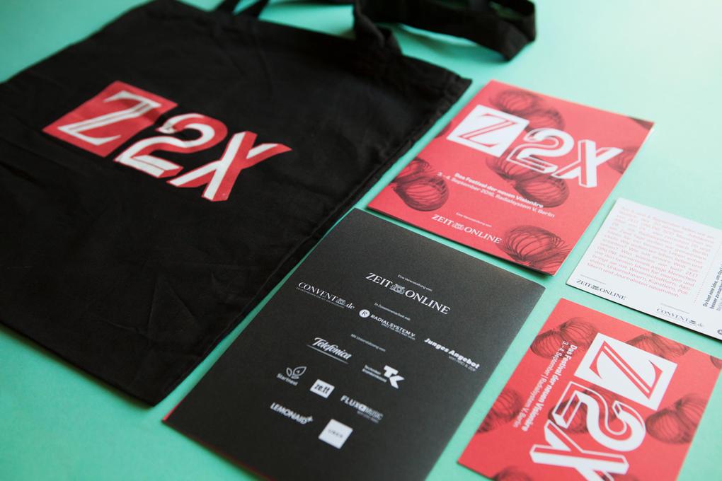 Projektaufbereitung von Z2X – dem Festival der neuen Visionäre von ZEIT ONLINE