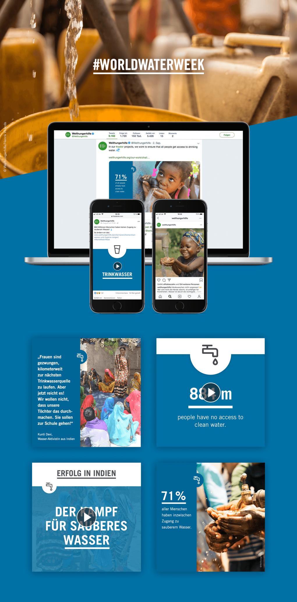 Projektaufbereitung für die Social Media Betreuung der Welthungerhilfe