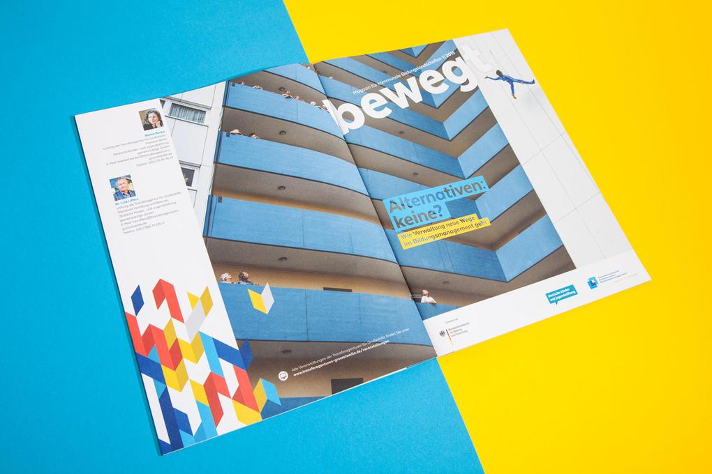 """""""bewegt"""" – das Magazin für kommunale Bildungslandschaften der Transferagenturen für Großstädte"""
