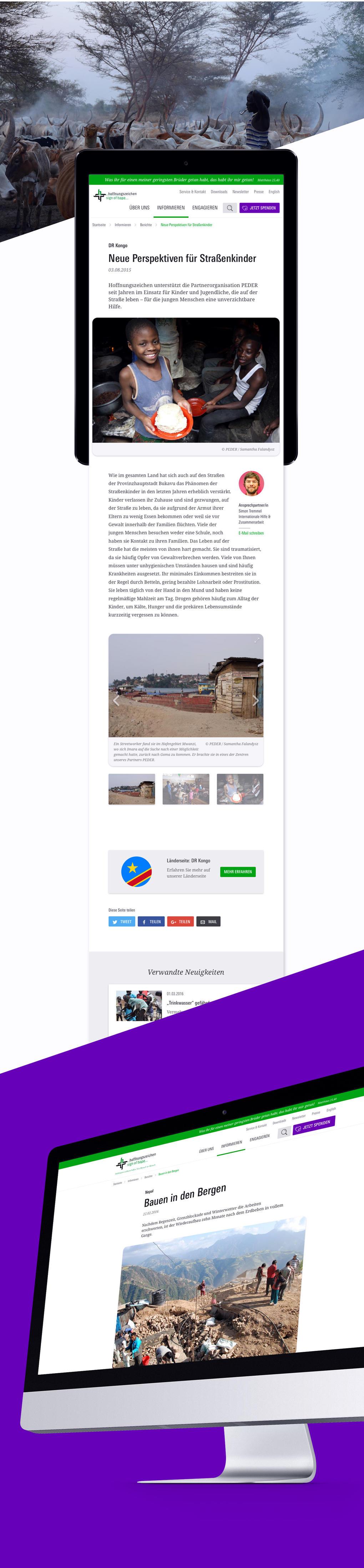 Projektaufbereitung für Website-Relaunch von Hoffnungszeichen