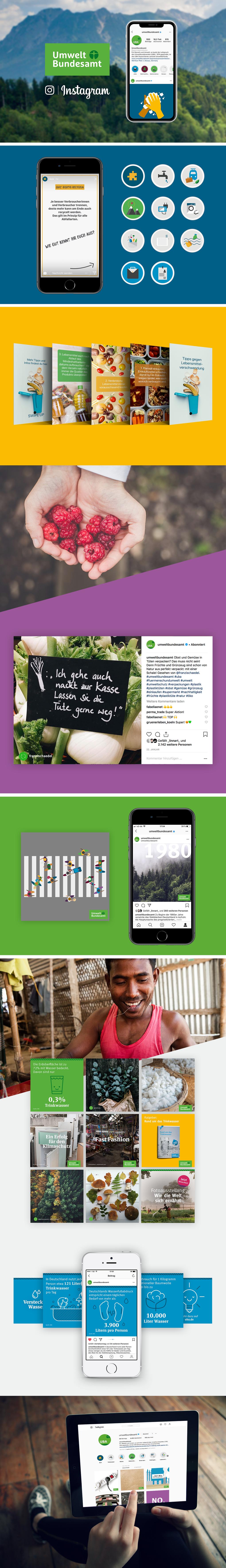 Projektaufbereitung für die Instagram-Unterstützung des Umweltbundesamtes