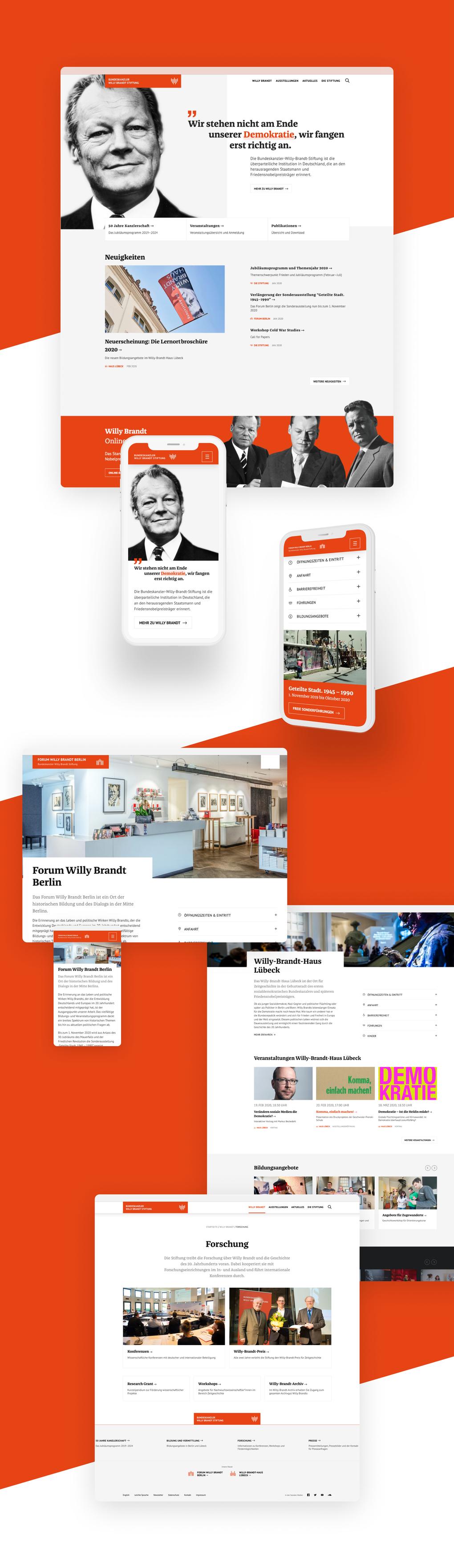 Projektaufbereitung für den Website-Relaunch der Bundeskanzler-Willy-Brandt-Stiftung