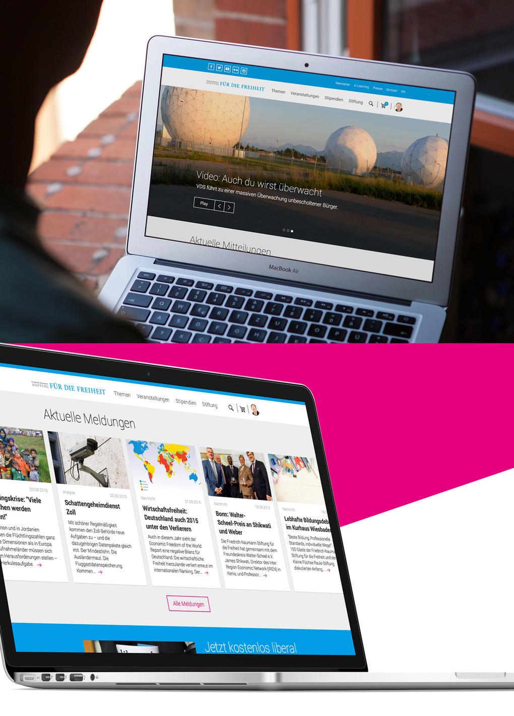 Projektaufbereitung Website-Relaunch für Friedrich-Naumann-Stiftung