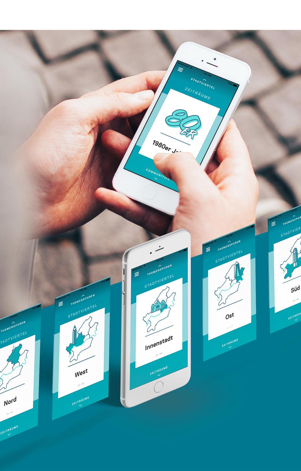 """Projektaufbereitung für die App """"Unsichtbare Orte"""" des Jüdischen Museums Frankfurt"""