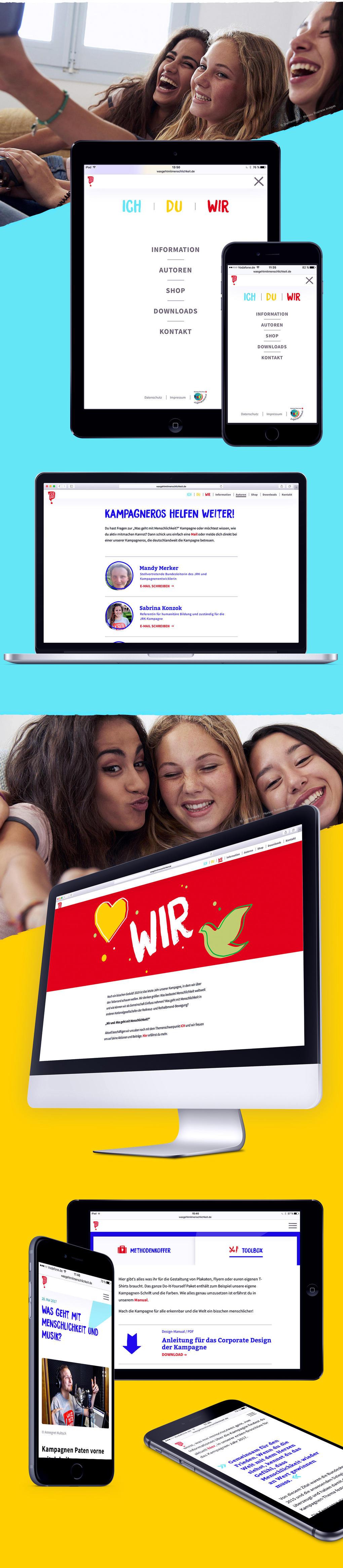"""Website """"Was geht mit Menschlichkeit"""""""