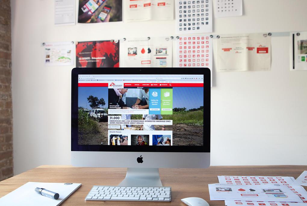 Digitales Corporate Design für Ärzte ohne Grenzen