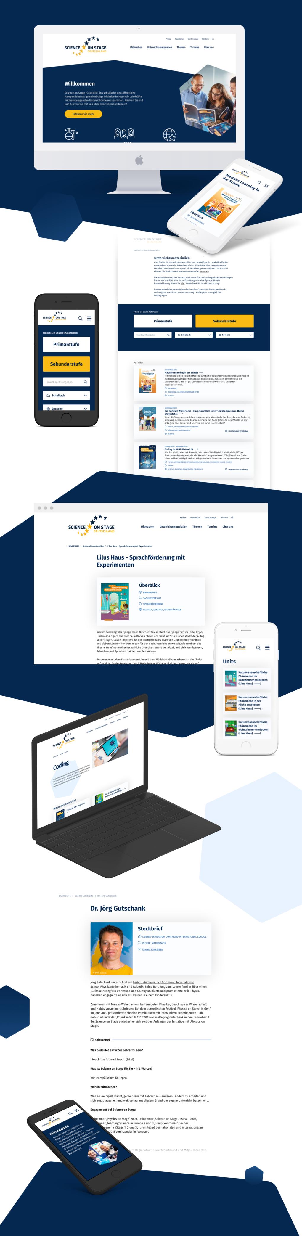 Projektaufbereitung für den Website-Relaunch von Science on Stage Deutschland e.V.