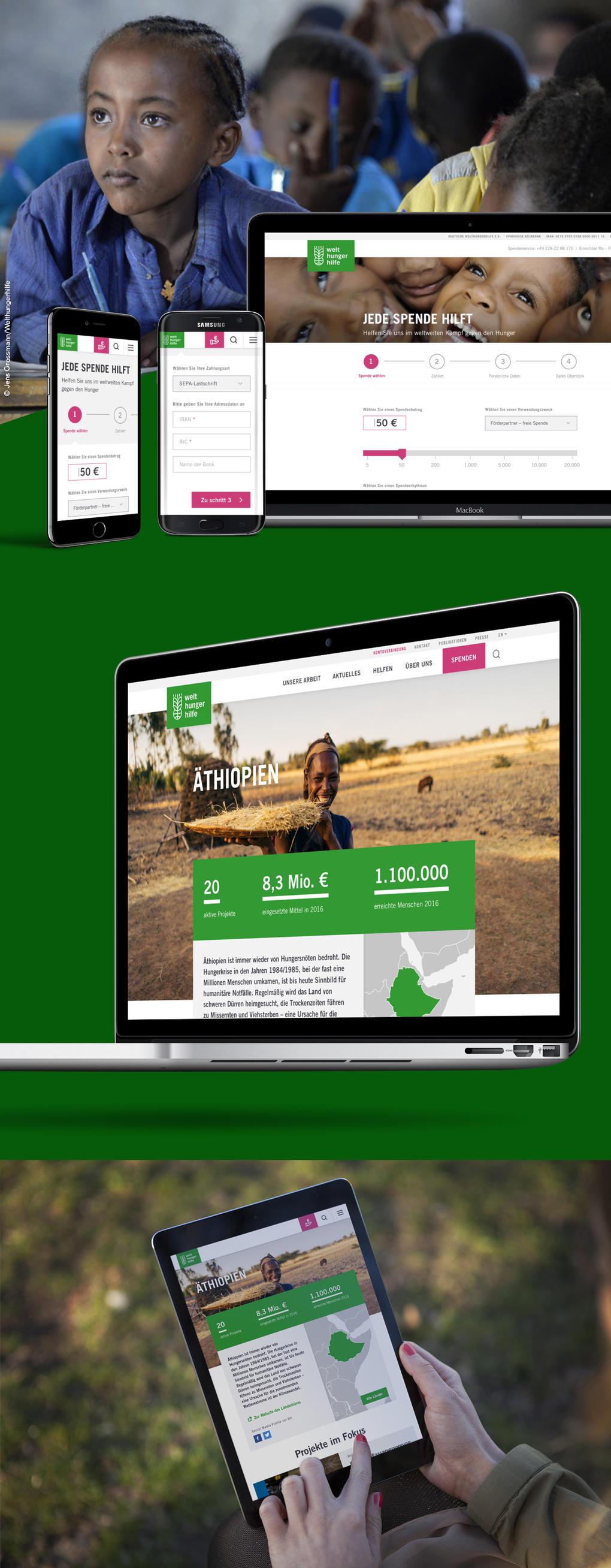 """Projektaufbereitung """"Website Relaunch der Welthungerhilfe"""""""
